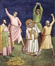 The Stoning of St. Stephen by Bernardo Daddi [1324]