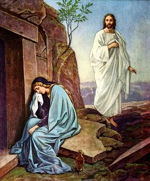 Jesus at tomb with Mary Magdalene