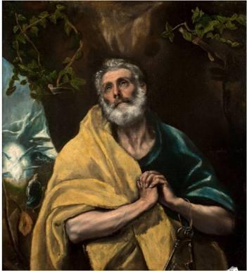 Saint Peter in Penitence by El Greco